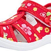 221036-11 красный туфли летние малодетские текстиль Р-р 24 фото