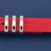 Ремень Р-31 красный, серебро фото