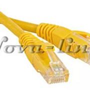 Патч-корд UTP4 6 10м BC PVC жёлтый Netko 54624 фото