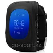 Умные детские часы Smart Baby Watch GPS Tracker Q50 (3 в 1: маяк - часы - телефон) black (черные) фото