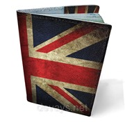 Обложка кожаная для паспорта Английский флаг фото