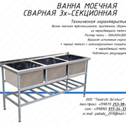 Ванна для мойки 3-х секционная фото