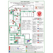Разработка и изготовление планов эвакуации выполненных на фотолюминесцентной основе согласно ГОСТ Р 12.2.143-2009 фото