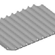 Лист волнистый перфорированный ЛПВ – 11А - К - 740х1032х30 фото