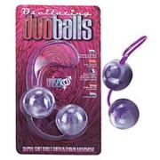 Фиолетово-белые вагинальные шарики со смещенным центром тяжести фото
