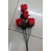 Цветы искусственные 6 бутонов розы 0238A-8 фото