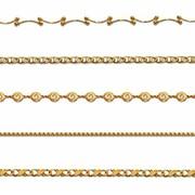 Браслеты, цепочки плетение, украшения с золотым покрытием, ювелирный кобальтовый сплав, покрытый золотом 750 пробы и защитным покрытием «Acryseal». 5 летняя гарантия на покрытие, кристаллы Swarovski фото