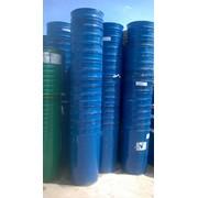 Бочки металлические, конусные (стакан) 216,5 л с хомутом и крышкой, б/у, пищевые фото