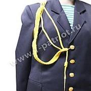 Аксельбант 1 наконечник (шелк) желтый фото
