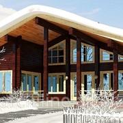 Скандинавский деревянный дом 138 м² фото