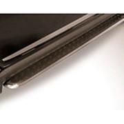 Пороги Suzuki SX4 2013–наст. время (с листом черный квинтет 42 мм ) фото