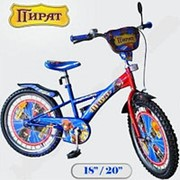 Детский двухколесный велосипед - Пират 121818 - 18 дюймовый фото