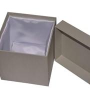 Коробка крышка-дно с тканью фото