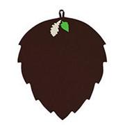 Коврик для бани и сауны из фетра Лист коричневый фото