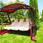 Садовые качели Ранго-Премиум + противомоскитные тент. Большой выбор. Нагрузка 400 кг. фото
