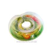 Круг на шею Baby Swimmer для купания детей от 0 до 36 месяцев салатовый полуцветный ; BS12C фото