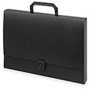 Папка-портфель A4 40 мм с замком 0.70 мм, черный фото