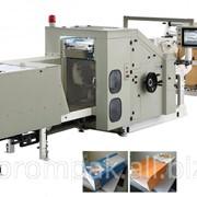 Машина для производства бумажных фасовочных пакетов с прямоугольным дном. фото