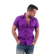Сорочка мужская льняная ELIZ фото
