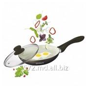 Сковорода из кованого алюминия с крышкой, 26 см Zeidan Z-50223 фото