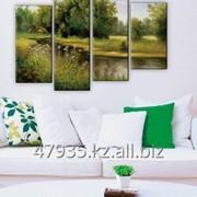 Печать модульных картин в гостиную фото