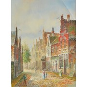 "Картина ""Старые голландские улочки"" 31х41 фото"