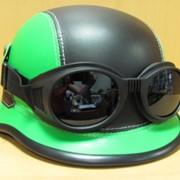 Шлем байкера с очками Немецкий светло-коричневый, арт. 151001/5 фото