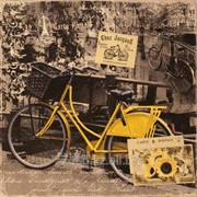 Салфетка для декупажа Велосипед винтаж фото
