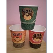 Стаканчики одноразовые с чаем, кофе,3в1, горячим шоколадом. фото