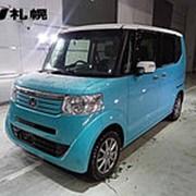 Микровэн турбо HONDA N BOX кузов JF2 класса минивэн гв 2014 4WD пробег 59 т.км светло-синий белый фото