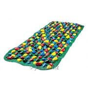 Коврик массажный с цветными камнями 100 х 40 см фото