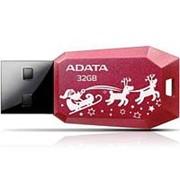 Флешка 32Гб USB 2.0 - ADATA - UV100 New Year Edition, красная, новогодняя фото