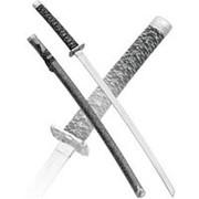 Меч самурайский сувенирный, ножны серый мрамор фото