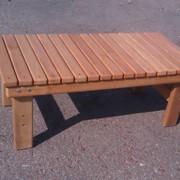 Столик для шезлонга деревянный фото