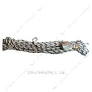 Веревка плетеная лодочная П-13 д7мм (24м) сплетение капроновой висхозной нити дешевая фото