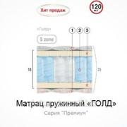 Матрац Велам Голд пружинный 190х120 см фото