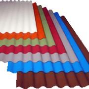Шифер 8-волновой цветной фото