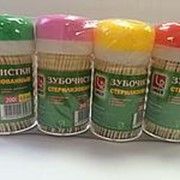 Зубочистки в пласт тубе 1/200/240 туб. в коробке. фото