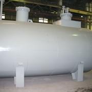 Horizontal cylindrical tank фото