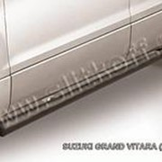 Пороги Suzuki Grand Vitara 2012–2015 (труба черные 57 мм) фото
