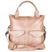 """Женская кожаная сумка """"Амели"""" (бежевый перламутр) фото"""