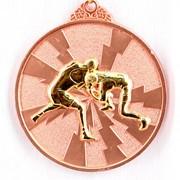 Медаль рельефная Борьба бронза фото