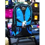 Туристический рюкзак YANDIXILIE синий с голубыми вставками фото