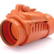 Обратный канализационный клапан ПВХ Ø160 фото