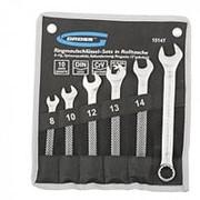 Gross Набор ключей комбинированных 8-17 мм, 6 шт, CrV, холодный штамп Gross фото