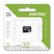 Micro SDHC карта памяти Smartbuy 32GB Class 4 с адаптером SD фото