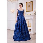 Вечернее платье синее V829 фото