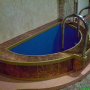 Мини-бассейн (купель) в бане фото