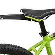 """Велосипедное крыло пластиковое заднее быстросъемное универсальное 20-29"""" крепление под седло черное фото"""