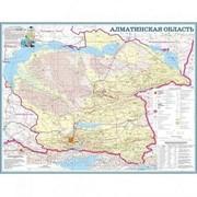 Карта областная Алматинская, масштаб 1:1 000 000, 630*790 мм, не ламинированная фото